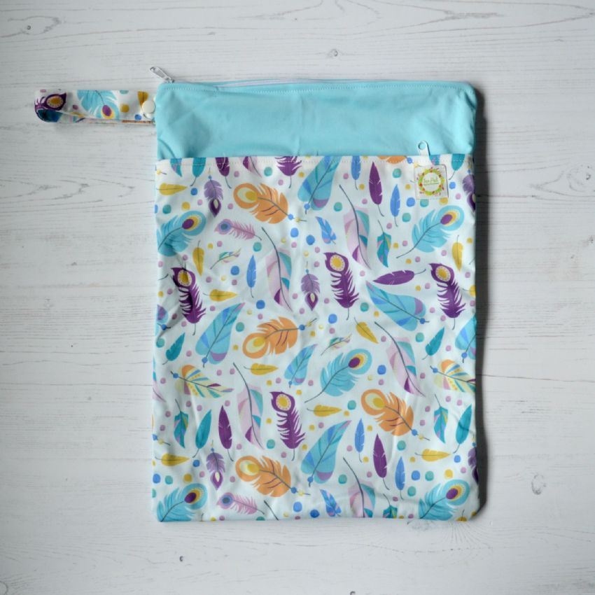 Pastel Feather - Large Wetbag